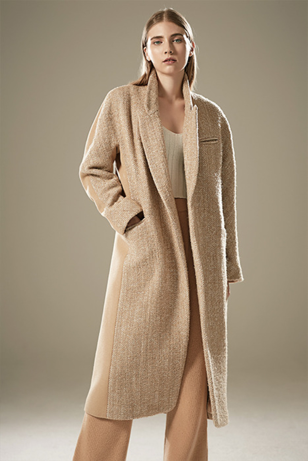 WOOL-TWEED CONTRAST COATCT64003
