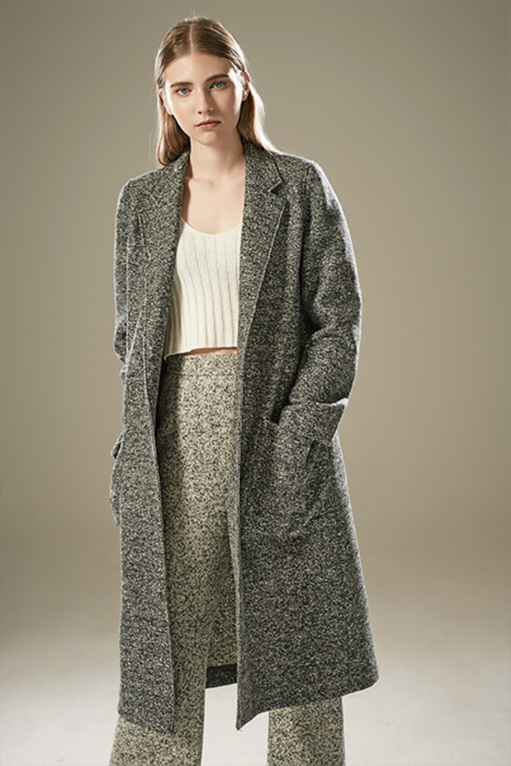 MELANGE WOOL COATCT64009