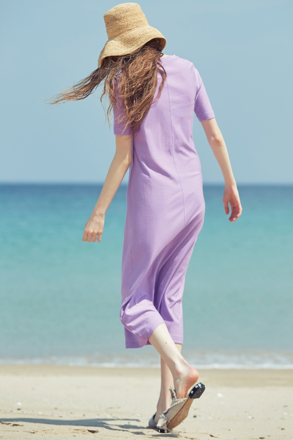 COTTON-SILK FITTED DRDR72005 LILAC