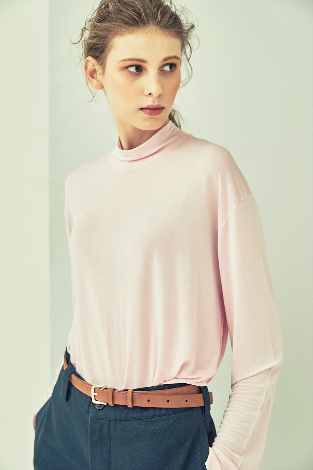 SILK LONG SLEEVE TT73007 PINK