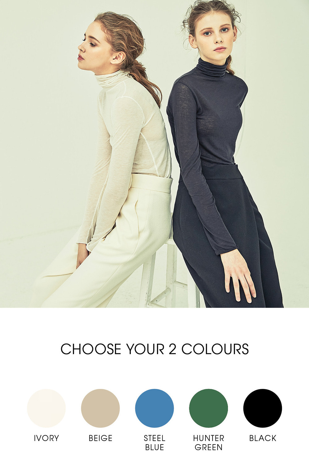 [공효진,서현진,정소민 착용]SLIMFIT TURTLE NECK TT73001CHOOSE YOUR COLOR2 FOR BETTER PRICE