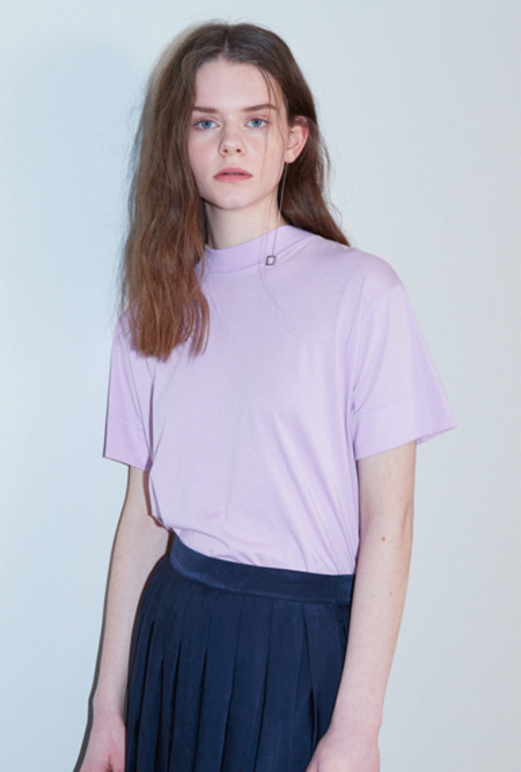 MOCK-NECK BASIC TT81001 LAVENDER