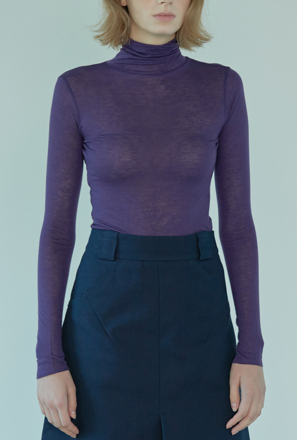 SLIMFIT TURTLE NECK TT83001 PURPLE