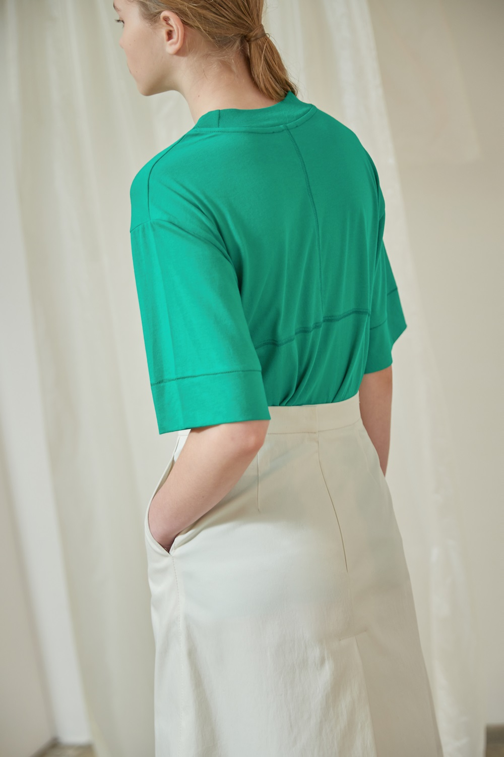 MOCK-NECK PANEL TTS91CO08 GREEN