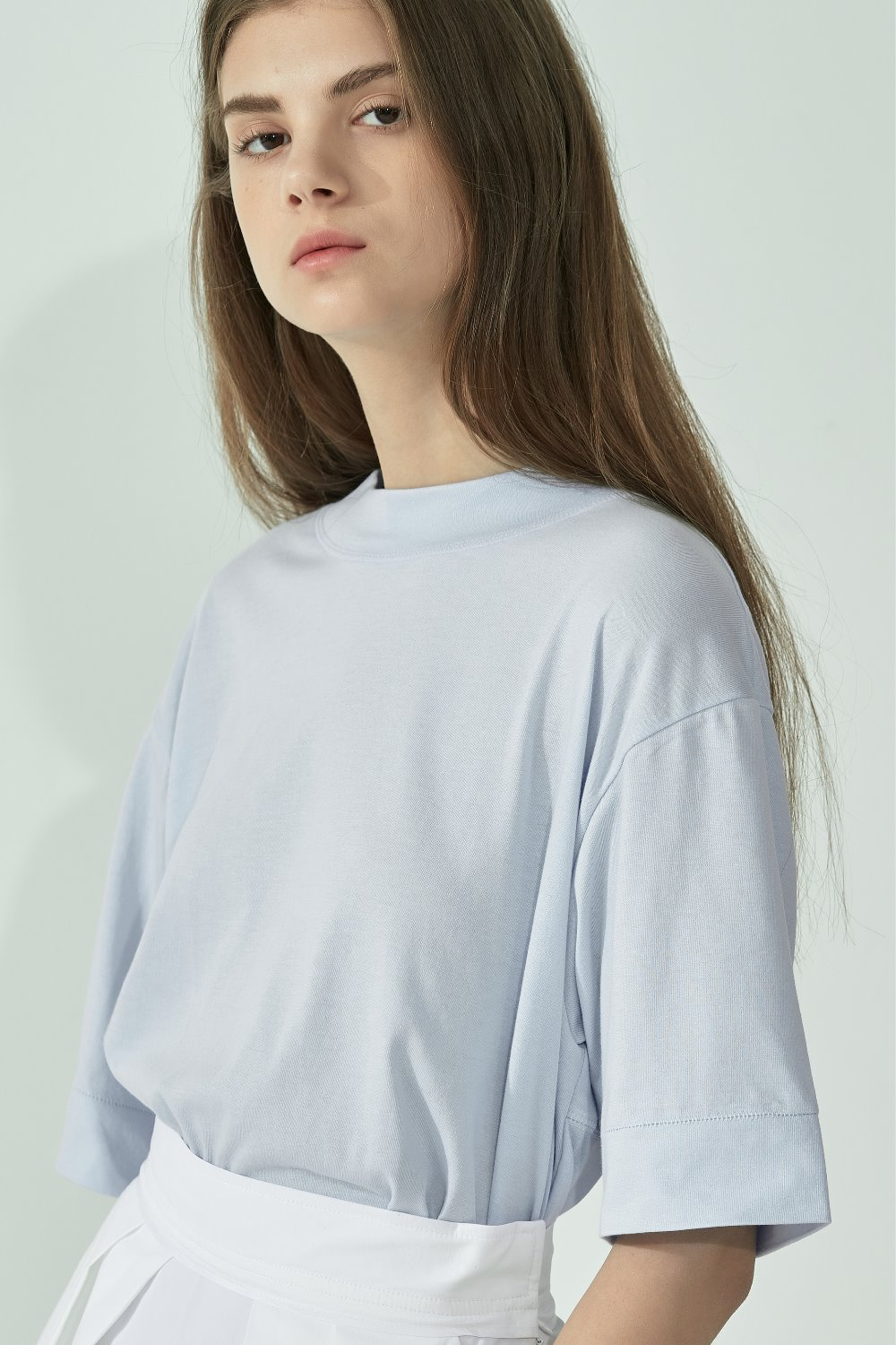 MOCK-NECK PANEL TTS91CO08 SKY BLUE