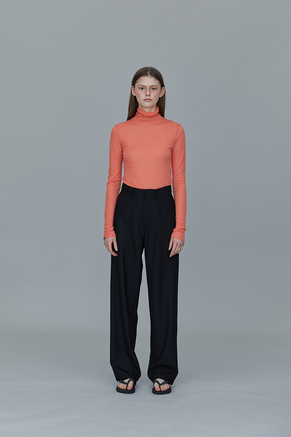 TS01TW01 SLIMFIT TURTLE NECK T CORAL