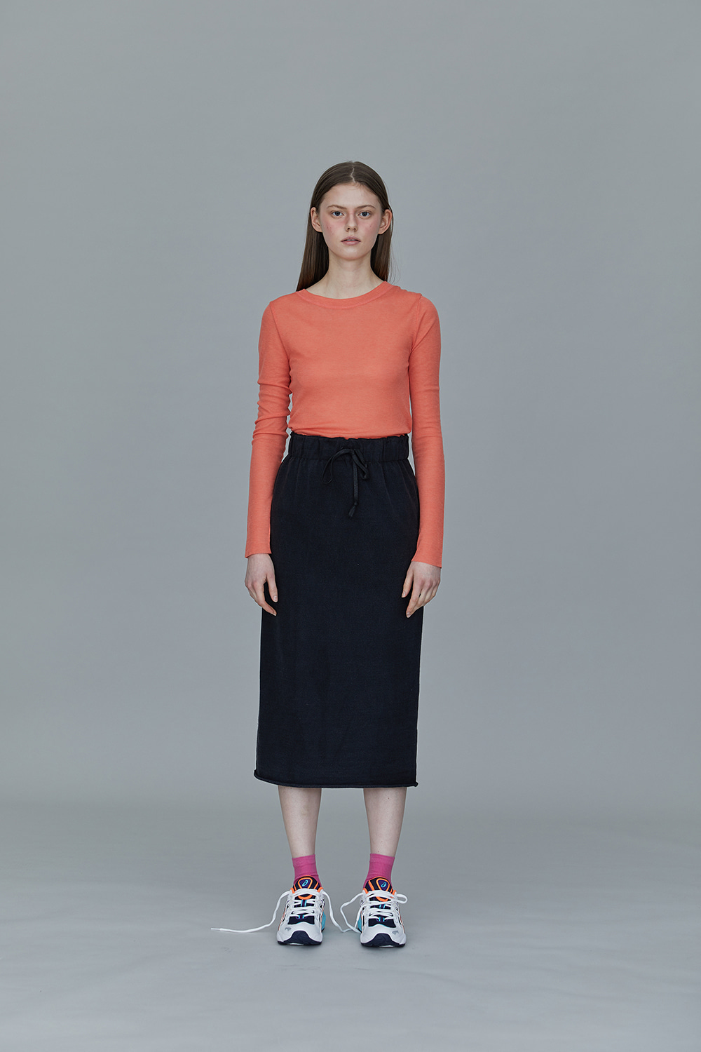 TS01TW03 BASIC ROUND NECK T CORAL