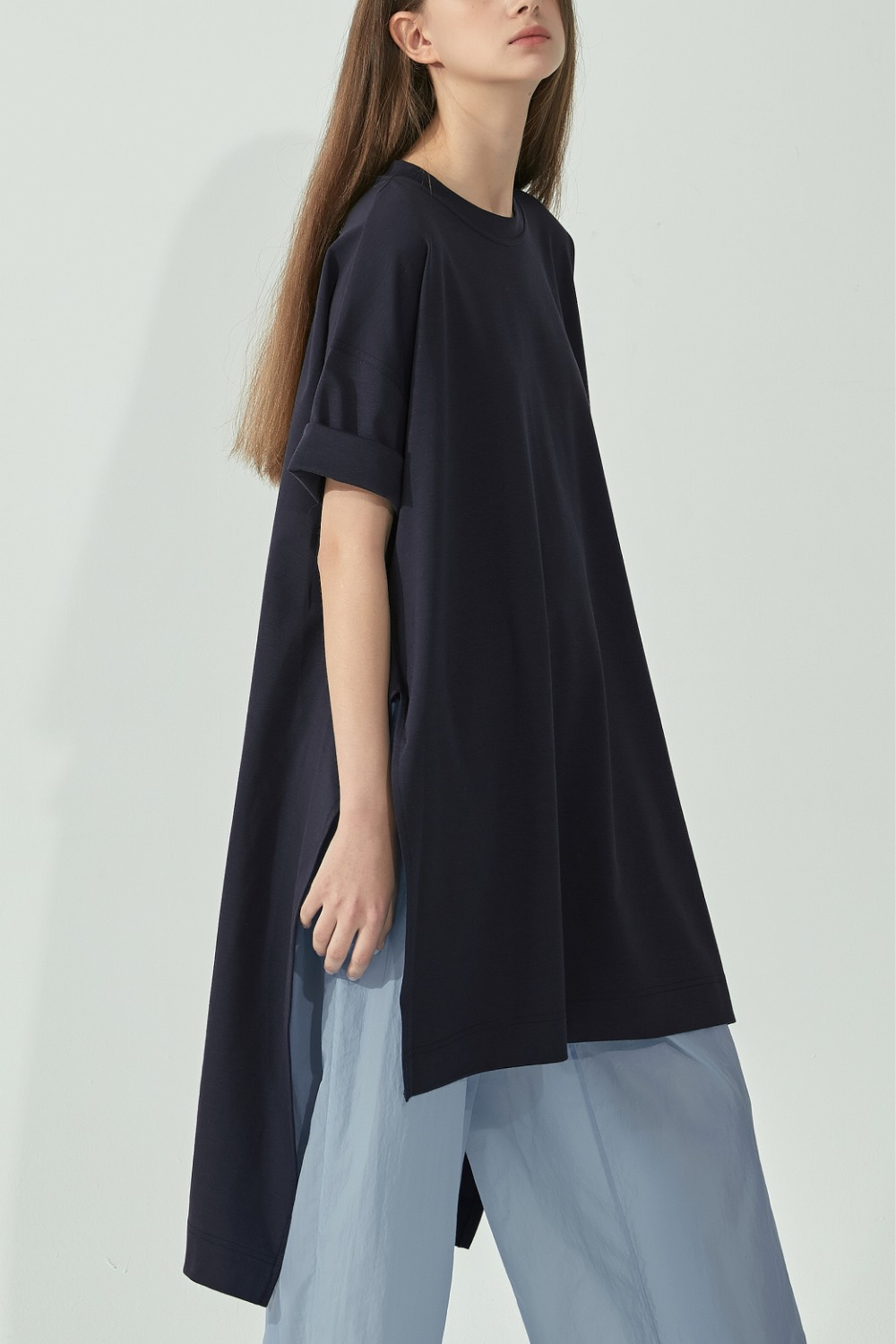 OVERSIZE SLIT LONG TOPTS92CO10