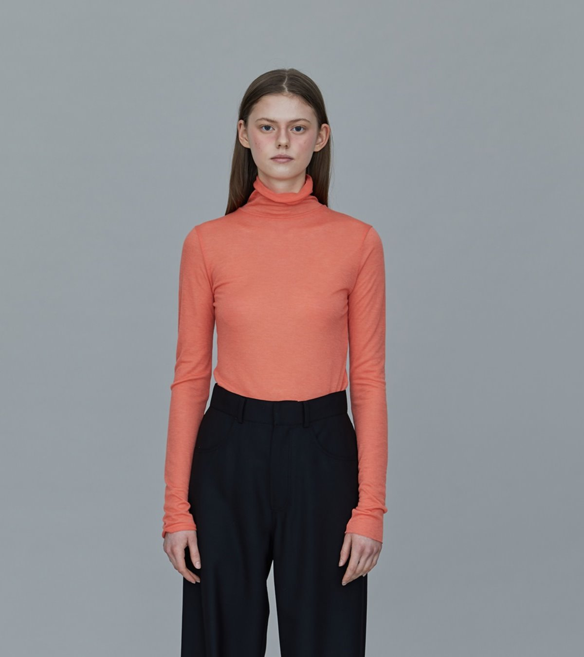 TS01TW01SLIMFIT TURTLE NECK TCORAL